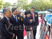 中国在东海非法建设人工岛图片展在韩国举行