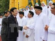 越南国家主席会见高台教圣会人士
