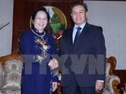 阮氏缘副主席会见老挝国会副主席赛宋蓬·丰威汉