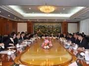 越中陆地基础设施合作工作组第一次部长级会议在北京召开