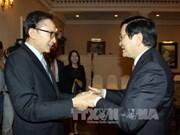 越南国家主席张晋创会见韩国前总统李明博