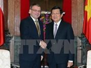 越南国家主席张晋创会见捷克外交部长扎奥拉莱克