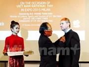 越南向原意大利驻越大使授予纪念章