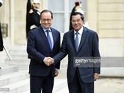 柬埔寨首相洪森访法