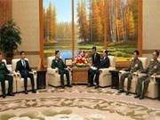 越南人民军队高级政治干部代表团对朝鲜进行正式访问