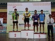 2015年全国俱乐部乒乓球锦标赛:段建国和梅黄美妆分别获男女单冠军