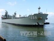 澳大利亚皇家海军船对岘港市进行访问