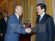 国家主席张晋创会见日本民间外交推进协会副会长
