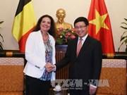 越南政府副总理兼外长范平明会见比利时参议长和冰岛外交兼外贸部长