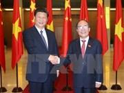 越南国会主席阮生雄会见中共中央总书记、国家主席习近平