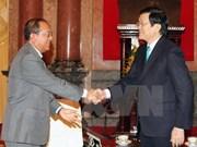 越南国家主席会见老挝司法部高级代表团