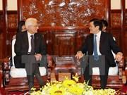 越南国家主席张晋创同意大利总统塞尔焦•马塔雷拉举行会谈