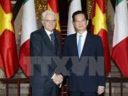 意大利总统塞尔焦·马塔雷拉圆满结束对越国事访问