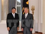 德国总统对越德关系的良好发展感到高兴