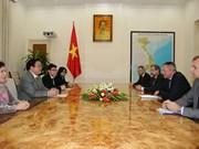 越南政府副总理黄忠海会见斯洛文尼亚经济发展与技术部长