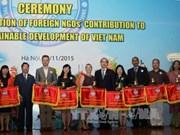 越南友好组织联合会举行仪式表彰国际非政府组织的贡献