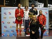越南女子拳击队在2015年Balkan国际赛夺金
