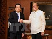 越南国家主席张晋创同菲律宾总统阿基诺三世举行会谈