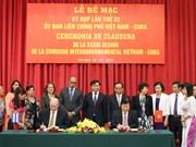 越南与古巴促进多个领域的全面合作关系