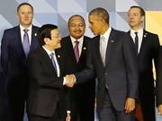 张晋创主席会见出席2015年APEC峰会的各国领导人