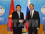 越南国家主席张晋创会见俄罗斯总理梅德韦杰夫