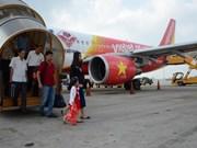 越捷航空公司正式开通三条新航线