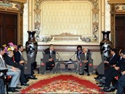 胡志明市人民委员会主席黎黄军会见捷克参议院议长米兰·什捷赫