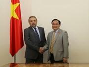 越南政府副总理黄忠海会见保加利亚客人