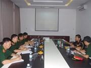越南通信联络大学领导与印度驻越国防武官举行工作会议