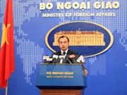 外交部发言人黎海平:越南支持本着国际法以和平方式解决东海争端