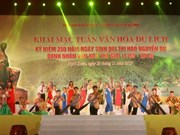 阮攸文化旅游周在河静省开幕