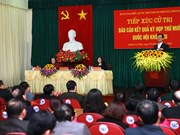 越南政府总理阮晋勇与海防市选民接触