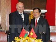 越南国家主席张晋创同白俄罗斯总统卢卡申科举行会谈