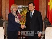 国家主席张晋创会见法国议会外交事务委员会主席伊丽莎白