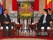国家主席张晋创会见柬埔寨参议院主席赛宗