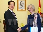 政府总理阮晋勇会见法国国民议会外交委员会主席伊丽莎白•吉古