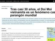 阿根廷美洲通讯社称赞越南革新事业成就