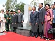 越南总理和柬埔寨首相将出席越柬陆地边界界碑落成典礼