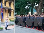 越南隆重举行东盟旗升旗仪式庆祝东盟共同体正式成立