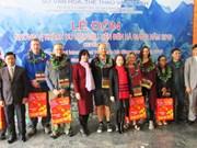 河江省同文岩石高原接待首批国际游客