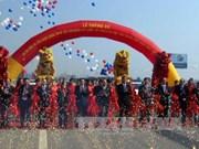 一号国道河内-北江路段升级改造项目通车仪式在北江举行