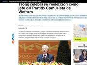 越共十二大:阿根廷美洲通讯社报道越共十二大的成功召开