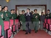 张晋创主席走访越南国防部后勤学院
