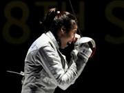 世界女子佩剑竞赛:阮氏漓荣居世界第24位