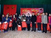 越南党和国家领导人春节前慰问优抚、特困家庭