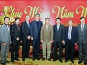河内市人民委员会主席向宗教团体和社会组织拜年