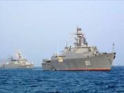越南011丁先皇号军舰抵达印度参加国际海军阅兵式