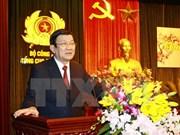 张晋创主席向中央企业党委,国外事务管理机关党委和公安部五号总局拜年