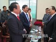 越南政府副总理阮春福向岘港市拜年