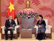 越南国会副主席阮氏金银会见日本群马县代表团